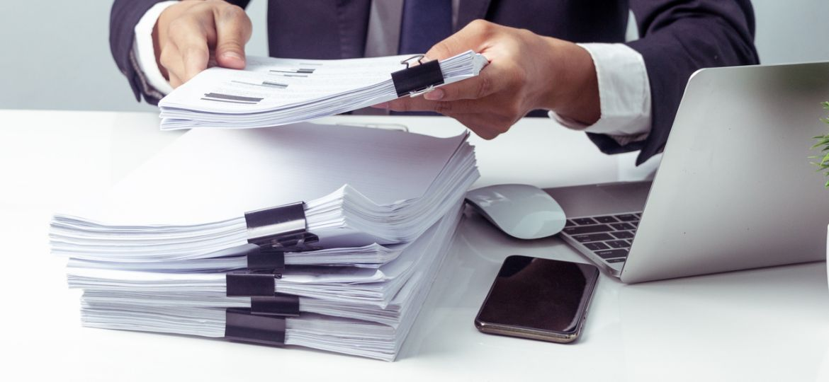 Businessman Receives Document from Chief, Business Report, Important Document