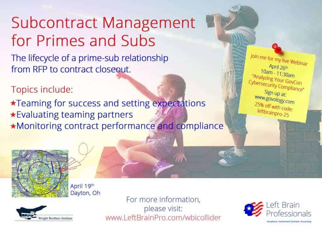 Left Brain Professionals - Subcontract Management Event, Ohio