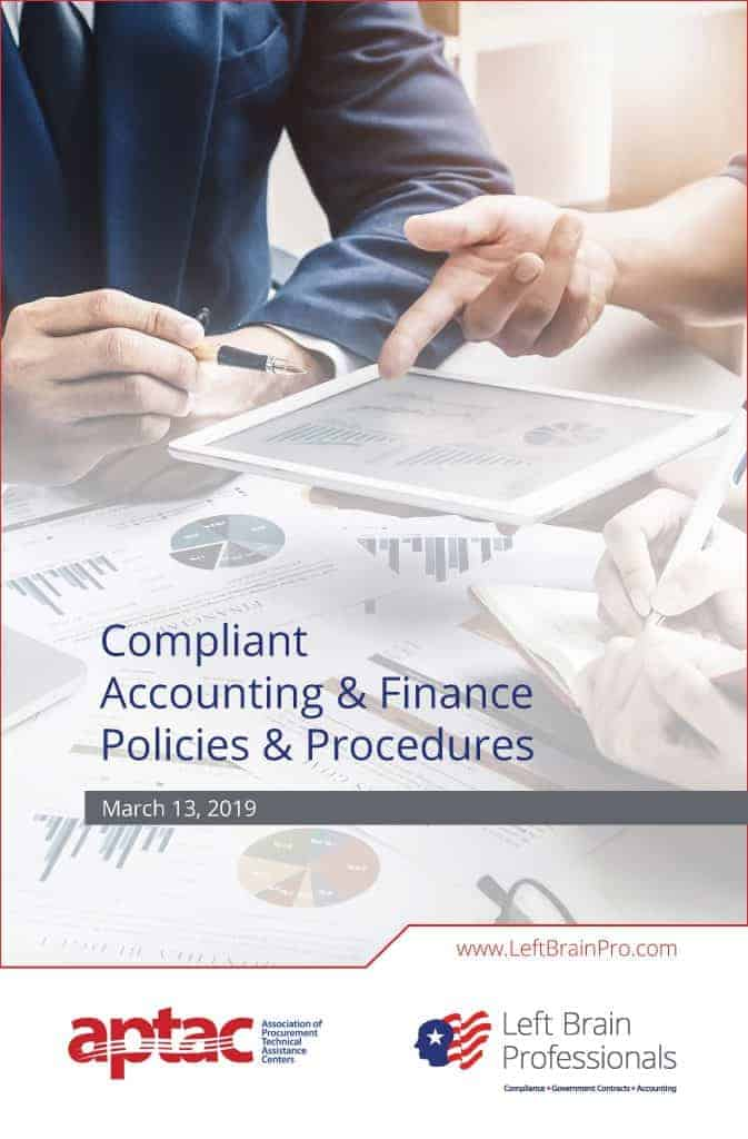 Left Brain Professionals - APTAC 2019 - Compliant Accounting and Finance Policies and Procedures