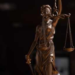 Legal and law statue of Lady Justice scales of justice